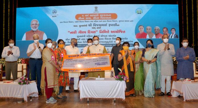 Gujarat CM launches various women welfareoriented schemesfrom Vadodara