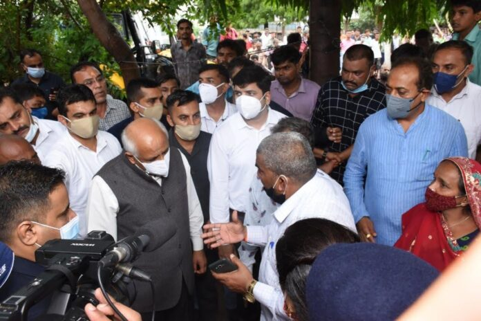 Gujarat Chief Minister Bhupendrabhai Patel visits worst flood-hit Jamnagar district